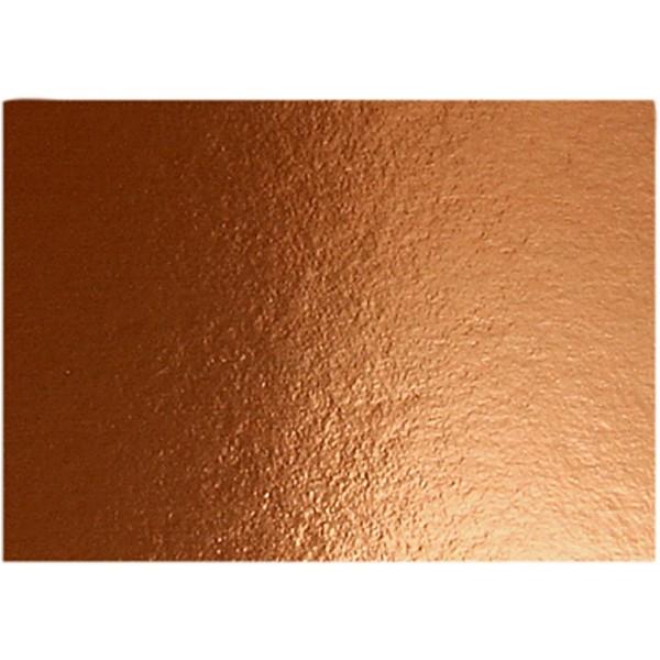 Papier métallisé - A4 - 280g - Cuivre - 10 feuilles - Photo n°1