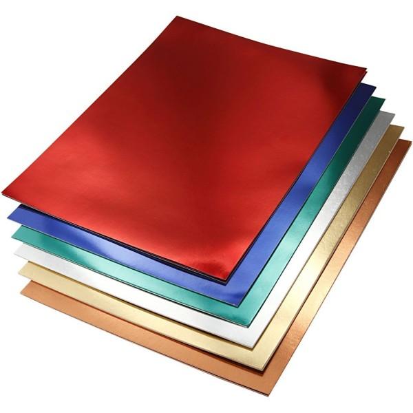 Assortiment de papier métallisé - A4 - 280g - 30 feuilles - Photo n°1