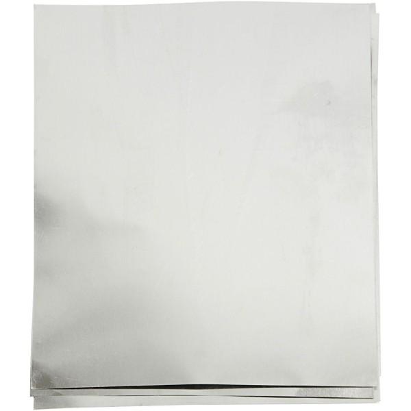 Papier métallisé - Argent - A5 - 10 feuilles - Photo n°1