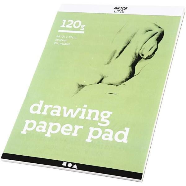 Bloc de dessin - A4 - 120 gr - 30 feuilles - Photo n°1