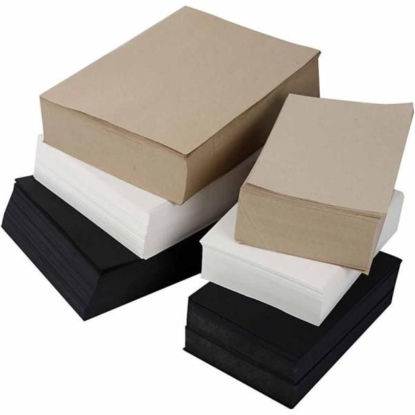 Papier, 100 gr, 6000 flles. ass., Couleurs assorties - Photo n°1