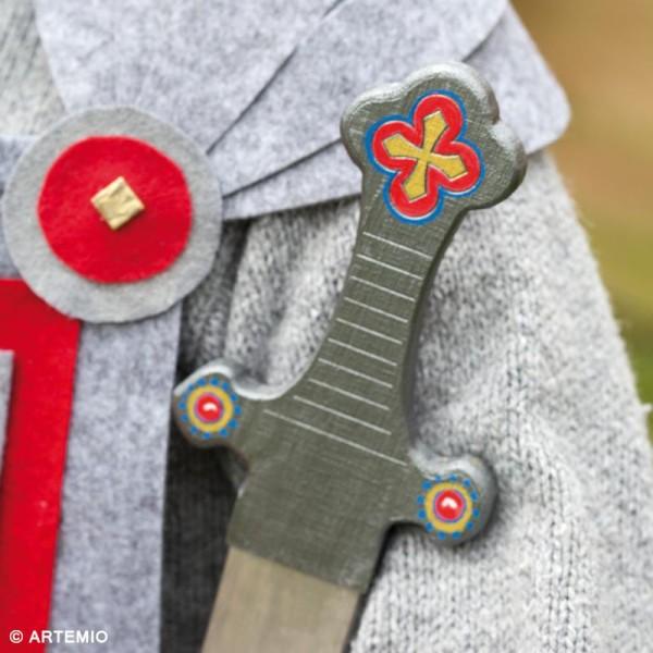Épée chevalier à décorer en bois - 9 x 50 x 1,2 cm - Photo n°3