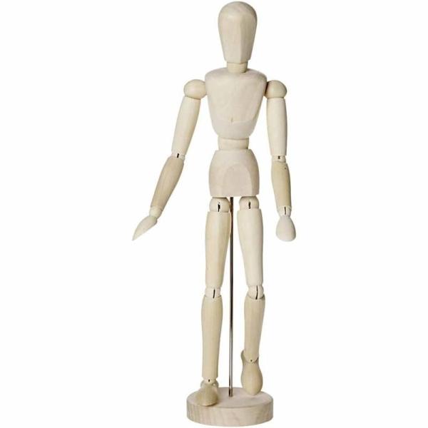 Mannequin articulé en bois - Homme - 30 cm - Photo n°1