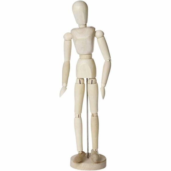 Mannequin articulé en bois - Femme - 30 cm - Photo n°1