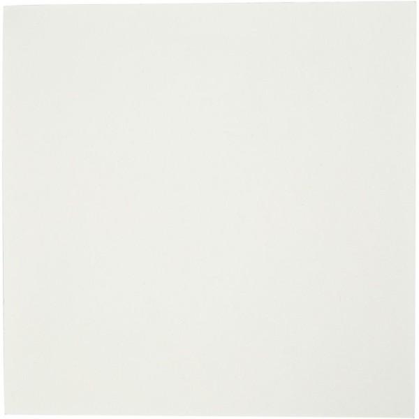 Papier aquarelle blanc 12 x 12 cm - 200 g - 100 feuilles - Photo n°1