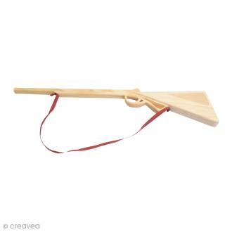 Carabine à décorer en bois - 55 x 13 x 2 cm