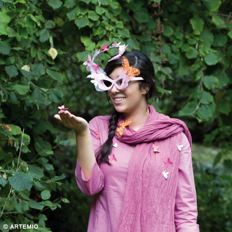 Lunettes Papillon à décorer en bois - 17,5 x 15,5 cm - Photo n°3