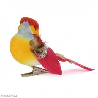 Oiseau miniature en plume - 7 x 4,5 cm - 6 pcs