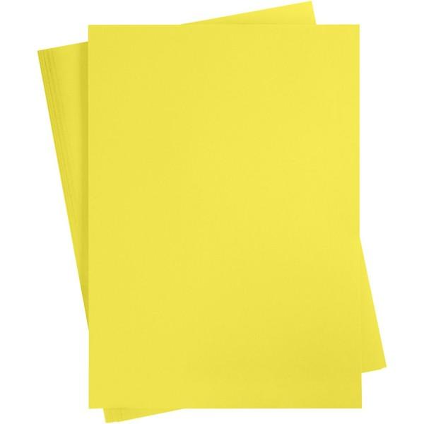 Affiche à décorer, feuille 50x70 cm, sun yellow, 10 feuille - Photo n°1