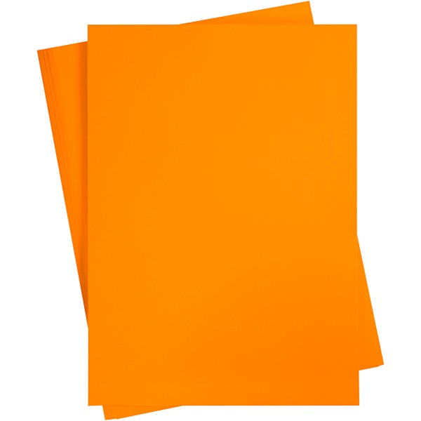 Affiche à décorer, feuille 50x70 cm, mandarine, 10 feuille - Photo n°1