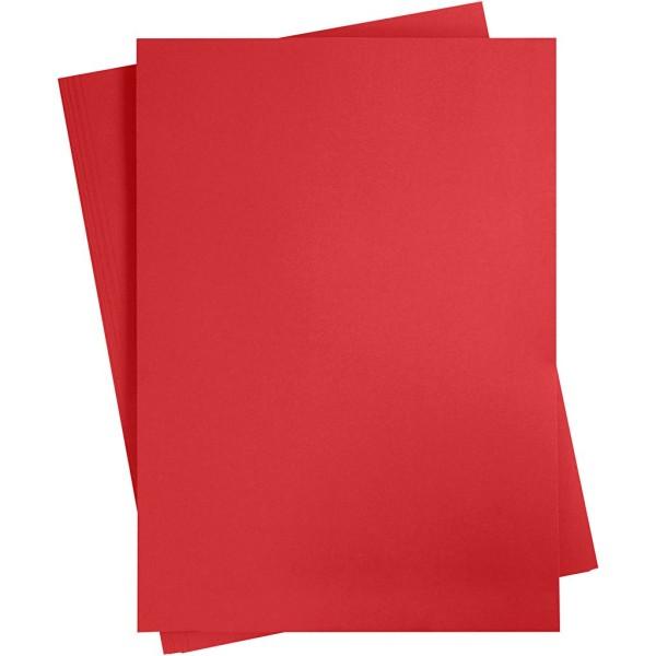 Affiche à décorer, feuille 50x70 cm, rouge cerise, 10 feuille - Photo n°1