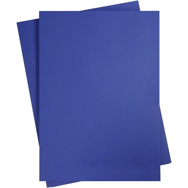 Affiche à décorer, feuille 50x70 cm, bleu roi, 10 feuille - Photo n°1