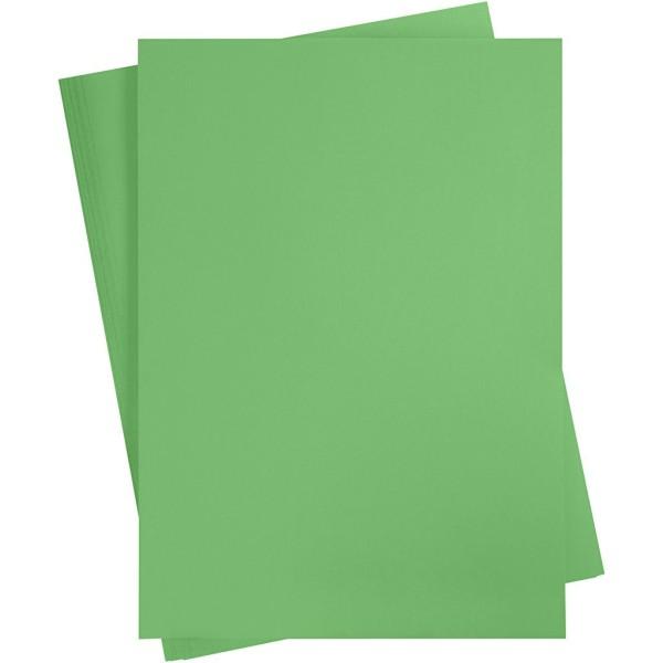 Affiche à décorer, feuille 50x70 cm, vert pré, 10 feuille - Photo n°1