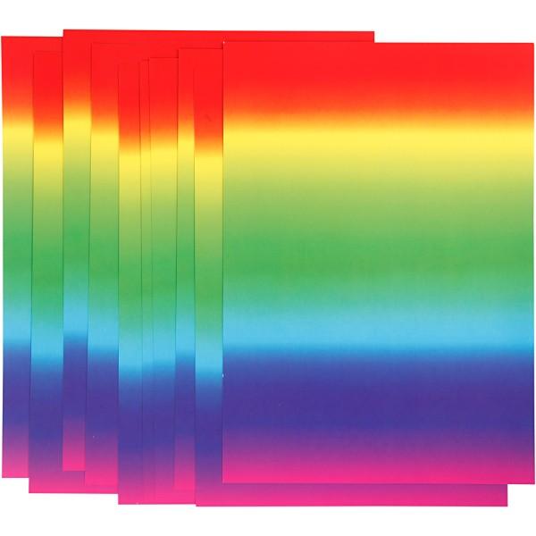 Papier arc-en-ciel - A4 - 180 gr - 10 feuilles - Photo n°1