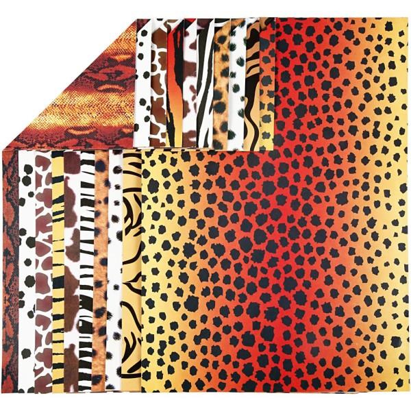 Papier cartonné - A4 - Animaux - 300 gr - 10 feuilles - Photo n°1