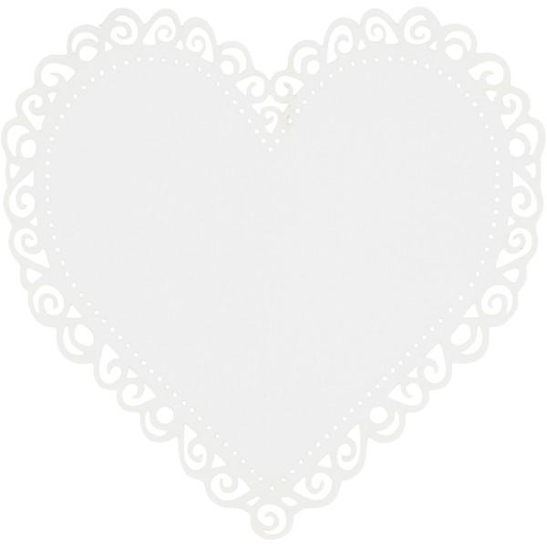Lot de coeur en papier - 8,5 x 8,5 cm - 10 pcs - Photo n°1