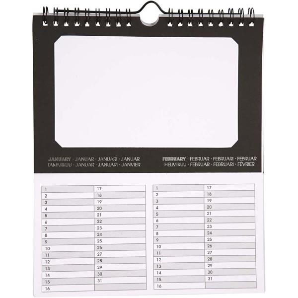 Lot de calendriers perpétuels à décorer - 19 x 23 cm - 5 pcs - Photo n°1