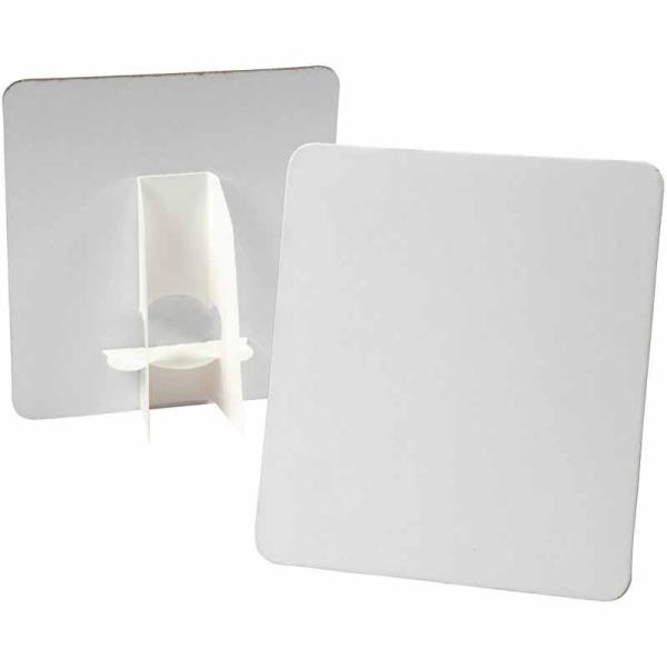 Plaque à décorer - Blanc - 17 x 19 cm - 5 pcs - Photo n°1