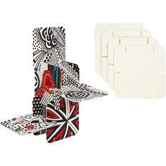 Puzzles à décorer - Blanc - 9,3 x 9,3 cm - 200 pcs
