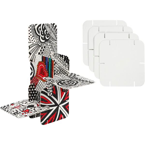 Puzzle 3D à colorier - 9,3 x 9,3 cm - 20 pcs - Photo n°1