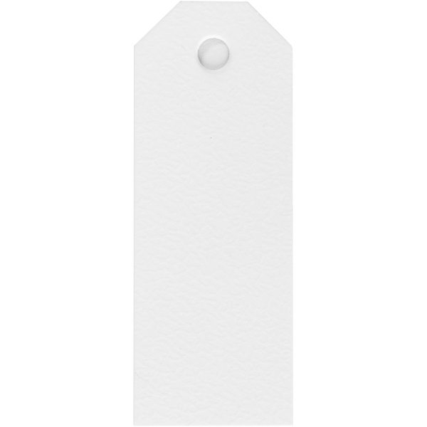 Étiquettes cadeaux 3x8 cm - Blanc - 20 pcs - Photo n°1