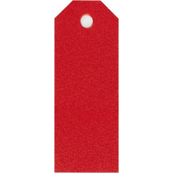 Étiquettes cadeaux 3x8 cm - Rouge - 20 pcs - Photo n°1