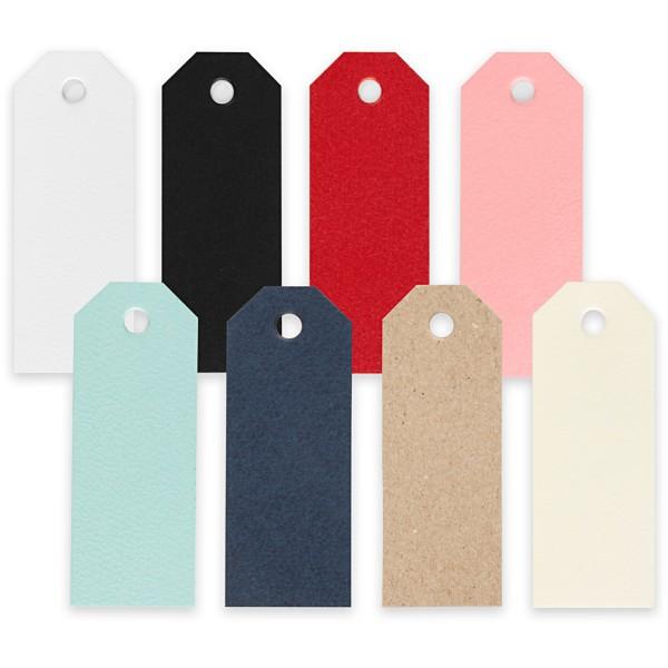 Etiquettes cadeau 3 x 8 cm - 8 couleurs - 320 pcs - Photo n°1