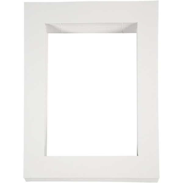 Passe-partout blanc - 28,5 x 37 cm - 100 pcs - Photo n°1