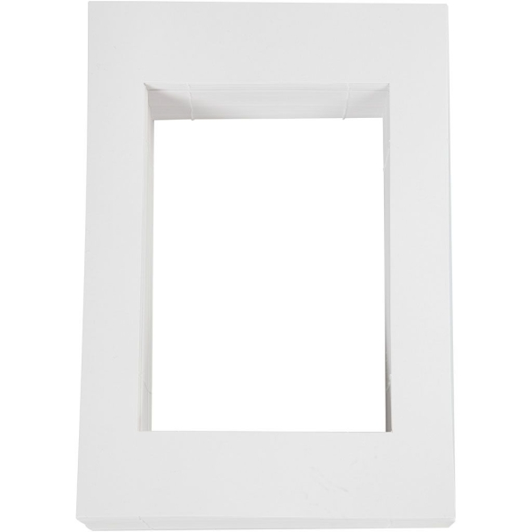 Passe-partout blanc - 19,8 x 28 cm - 100 pcs - Photo n°1