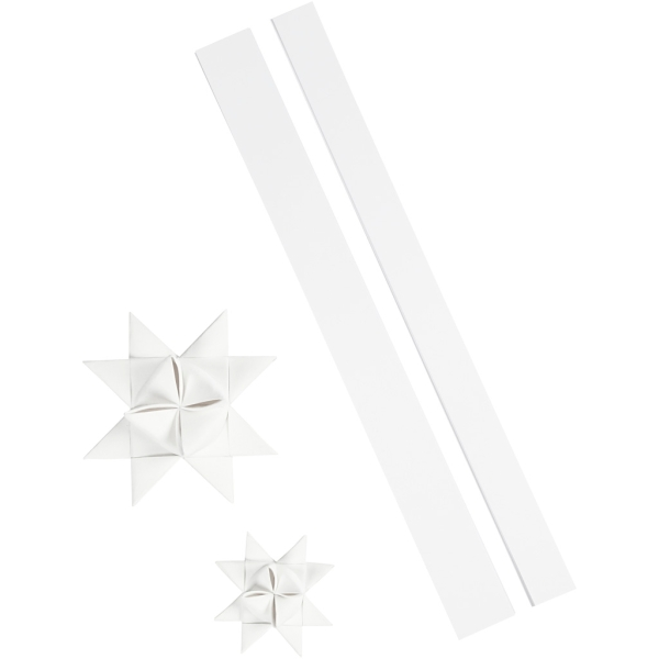 Kit de création d'étoile en papier pour l'extérieur - Blanc brillant - 16 pcs - Photo n°1