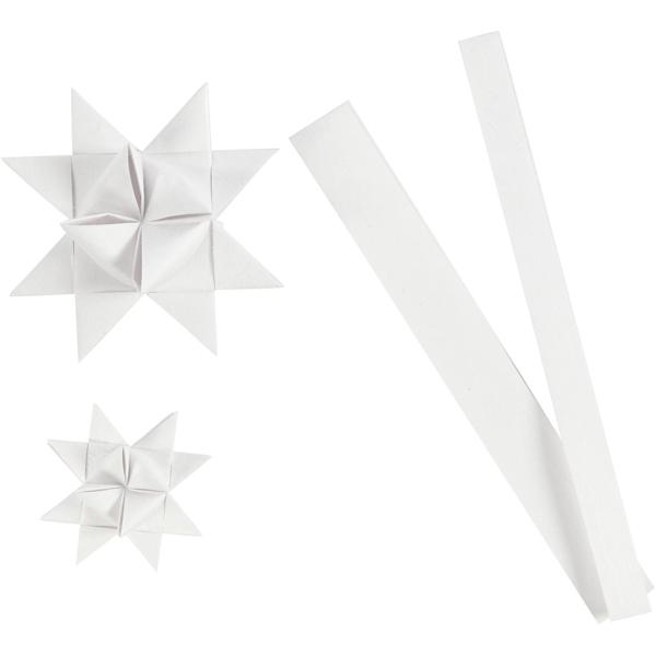 Kit de création d'étoile en papier - Blanc - 6,5 et 11,5 cm - 32 pcs - Photo n°1