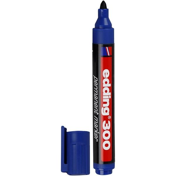 Marqueur Edding 300,  1,5-3 mm de trait, bleu, 1 pièce - Photo n°1