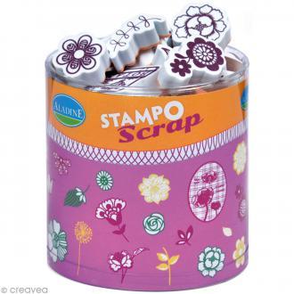 Kit 34 tampons Stampo'scrap Fleurs
