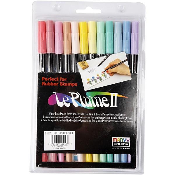 Marqueurs Le Plume II couleurs pastel - 12 pcs - Photo n°1