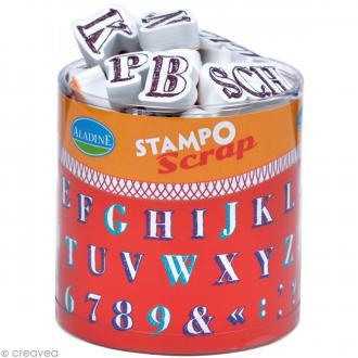 Kit 54 tampons Stampo'scrap Alphabet crayonné