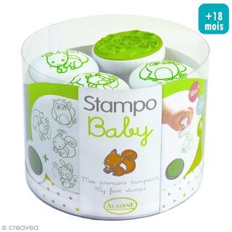 Tampons Stampo'baby Animaux de la forêt - 4 tampons et 1 encreur