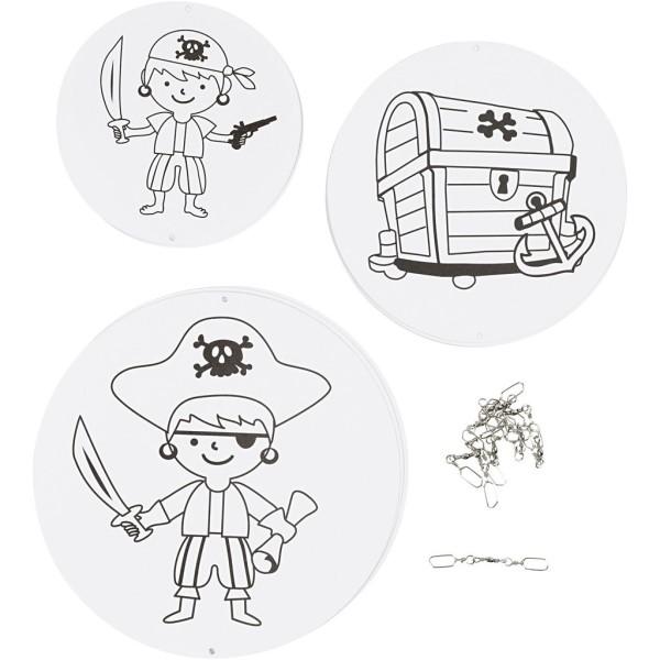 Mobile imprimé à décorer - Pirate - 12/15/18 cm - 18 pcs - Photo n°1
