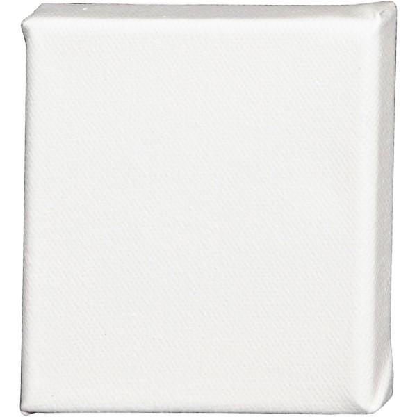 Châssis peinture en coton - 10 x 10 cm - Blanc - Photo n°1