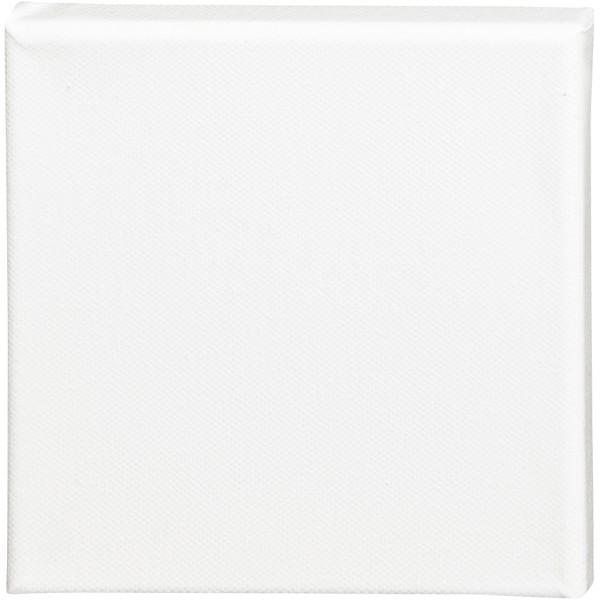 Châssis peinture en coton - 15 x 15 cm - Blanc - Photo n°1