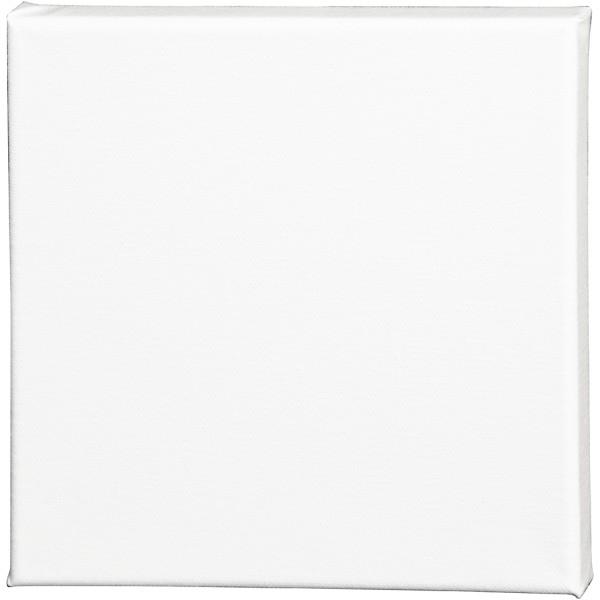 Châssis peinture en coton - 20 x 20 cm - Blanc - Photo n°1