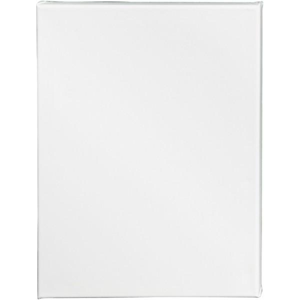 Carton entoilé coton blanc - 30 x 40 cm - 1 pce - Photo n°1