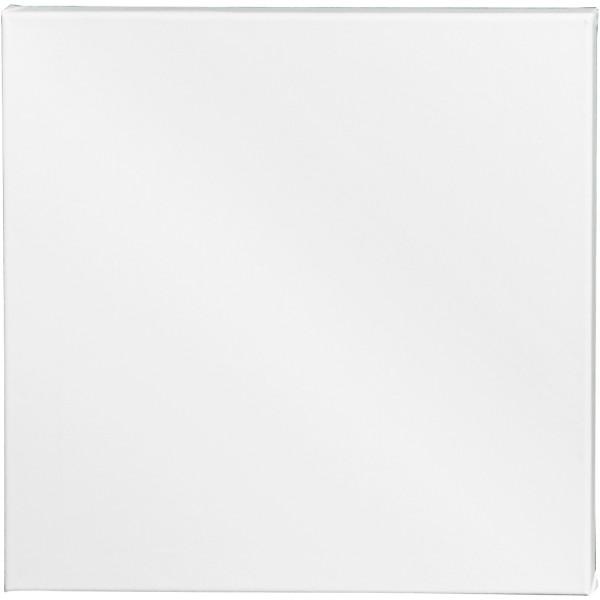 Châssis peinture en coton - 40 x 40 cm - Blanc - Photo n°1