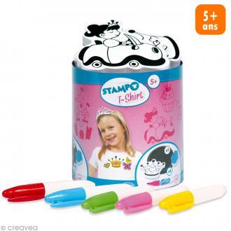 Stampo't-shirt - Kit tampons Encreur et Feutres textiles - Princesse