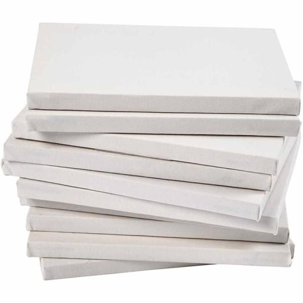 Lot de châssis entoilés Blancs A5 - Profondeur 1,6 cm - 80 pcs - Photo n°1