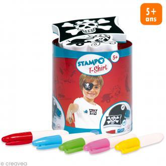 Stampo't-shirt - Kit tampons Encreur et Feutres textiles - Pirate