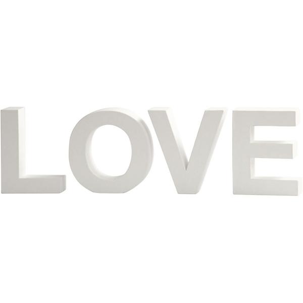 Lettres en carton blanc - Love - 17,5 x 4,5 cm - Photo n°1