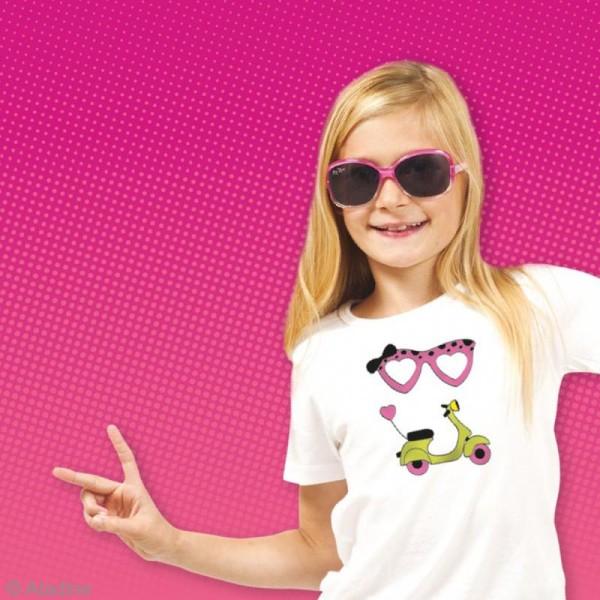 Stampo't-shirt - Kit tampons Encreur et Feutres textiles - Starlette - Photo n°4
