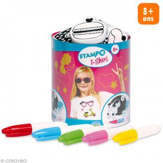 Stampo't-shirt - Kit tampons Encreur et Feutres textiles - Starlette