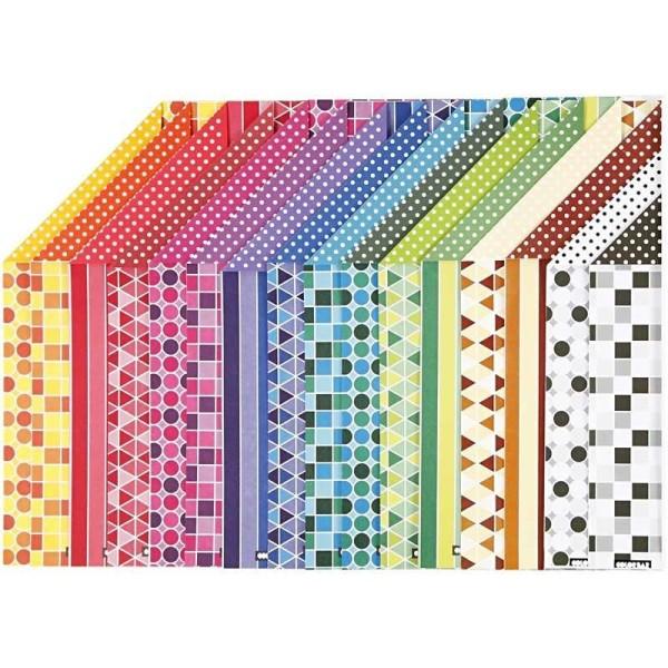 Papier imprimé cartonné - 21 x 29,5 cm - 250 gr - 16 feuilles - Photo n°1