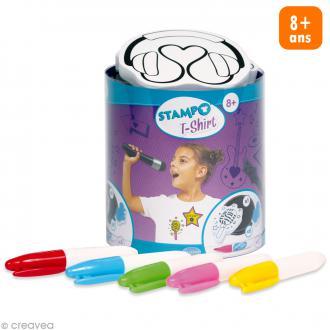 Stampo't-shirt - Kit tampons Encreur et Feutres textiles - Music